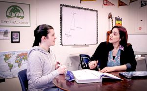 Student and teacher - one on one